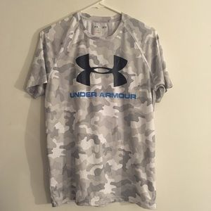 Under Armour HEATGEAR UA Logo CAMO Tee Men's SMALL